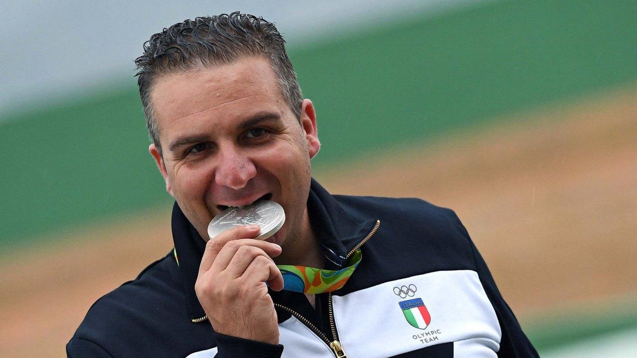 Olimpiadi Rio 2016 - CONI - Marco Innocenti silver in the double trap ...